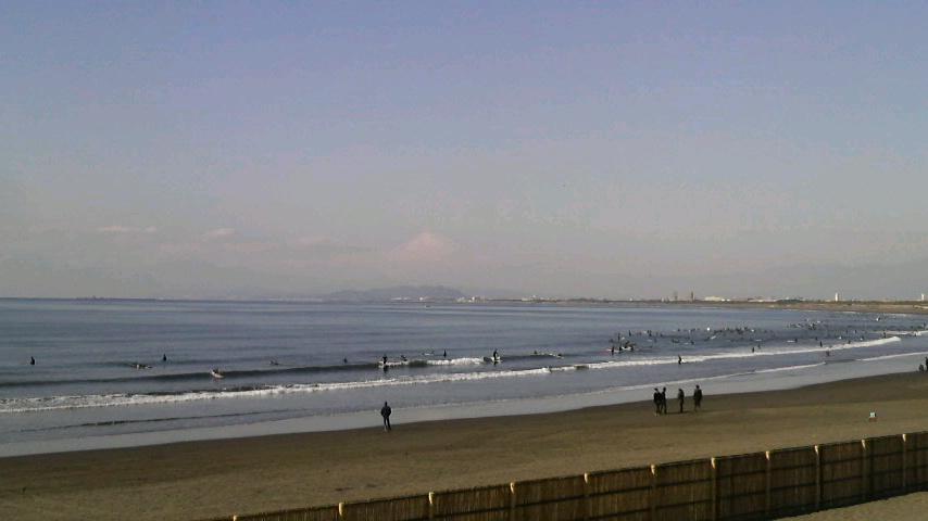まったり冬の海